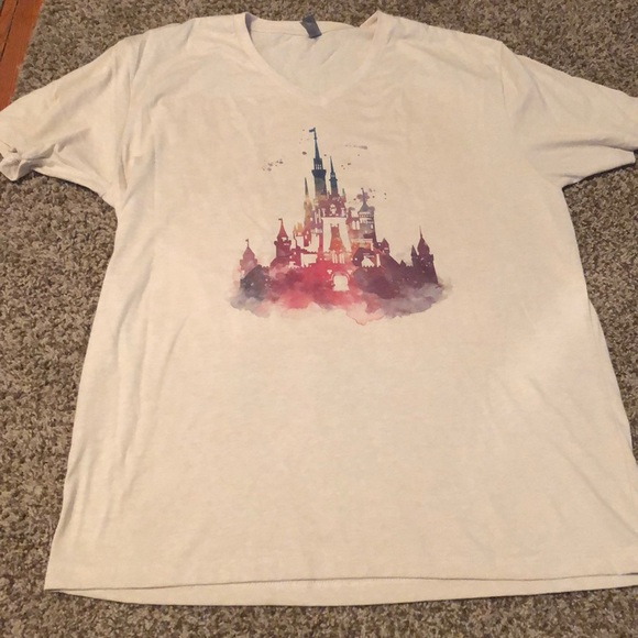 6dc5b7e7d Next Level Apparel Tops | Watercolor Cinderellas Castle Tshirt ...